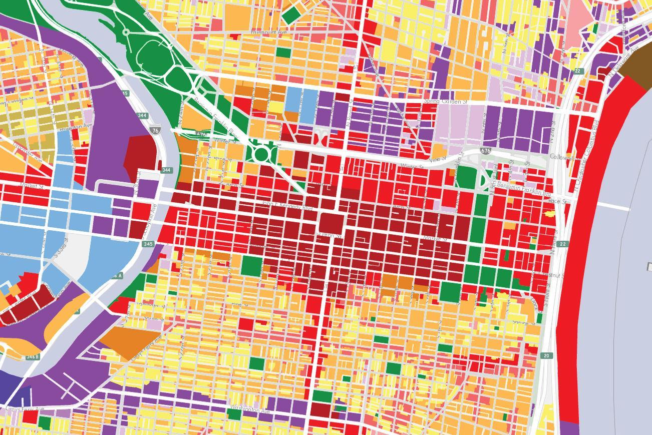 Phila map - Phila zoning map (Pennsylvania - USA)