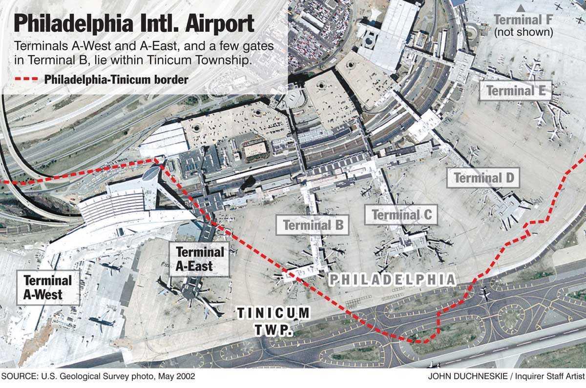 Philadelphia Airport Terminal Map Philadelphia Terminal Map - Philadelphia terminal map