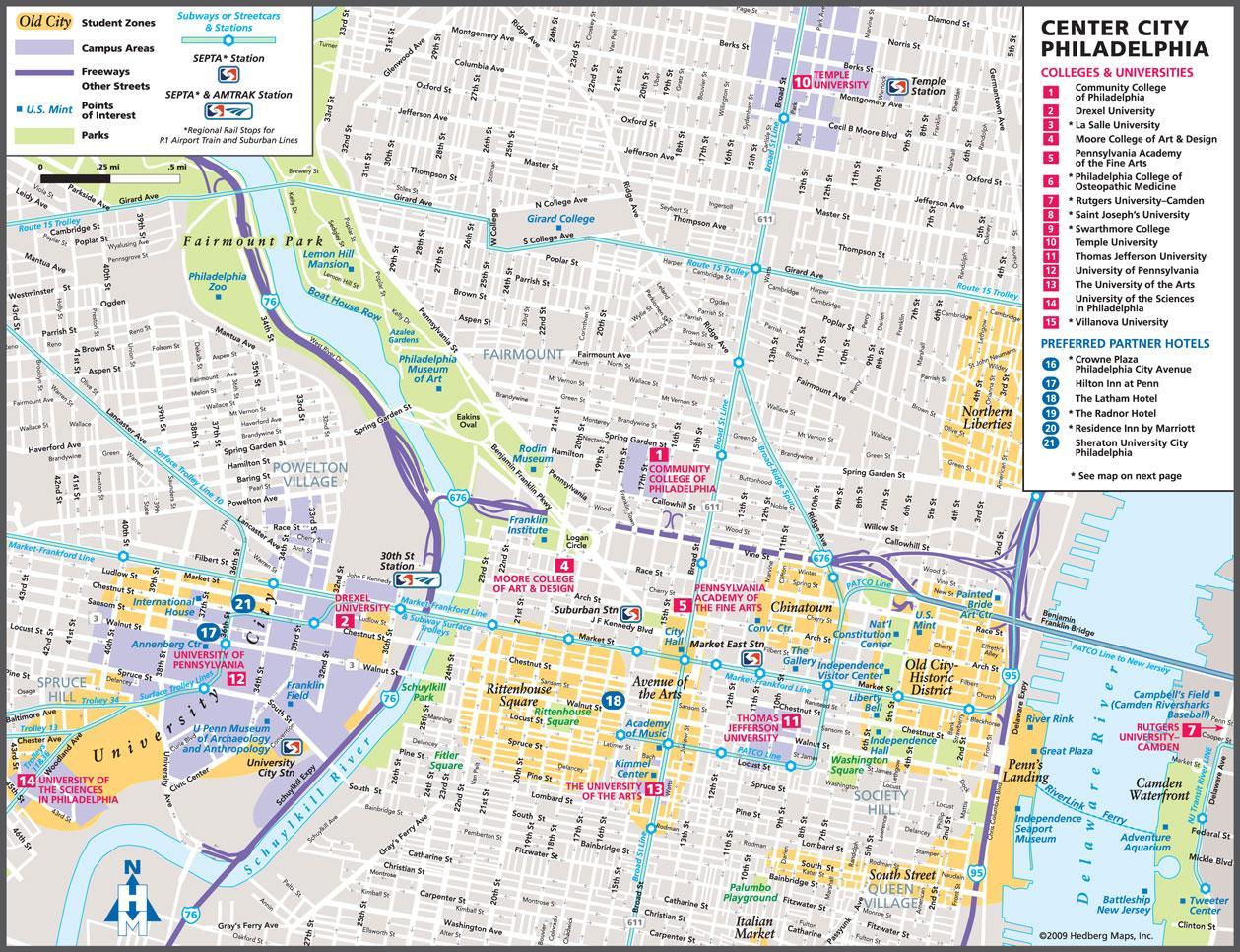 Tourist Map Of Philadelphia Tourist Map Philadelphia