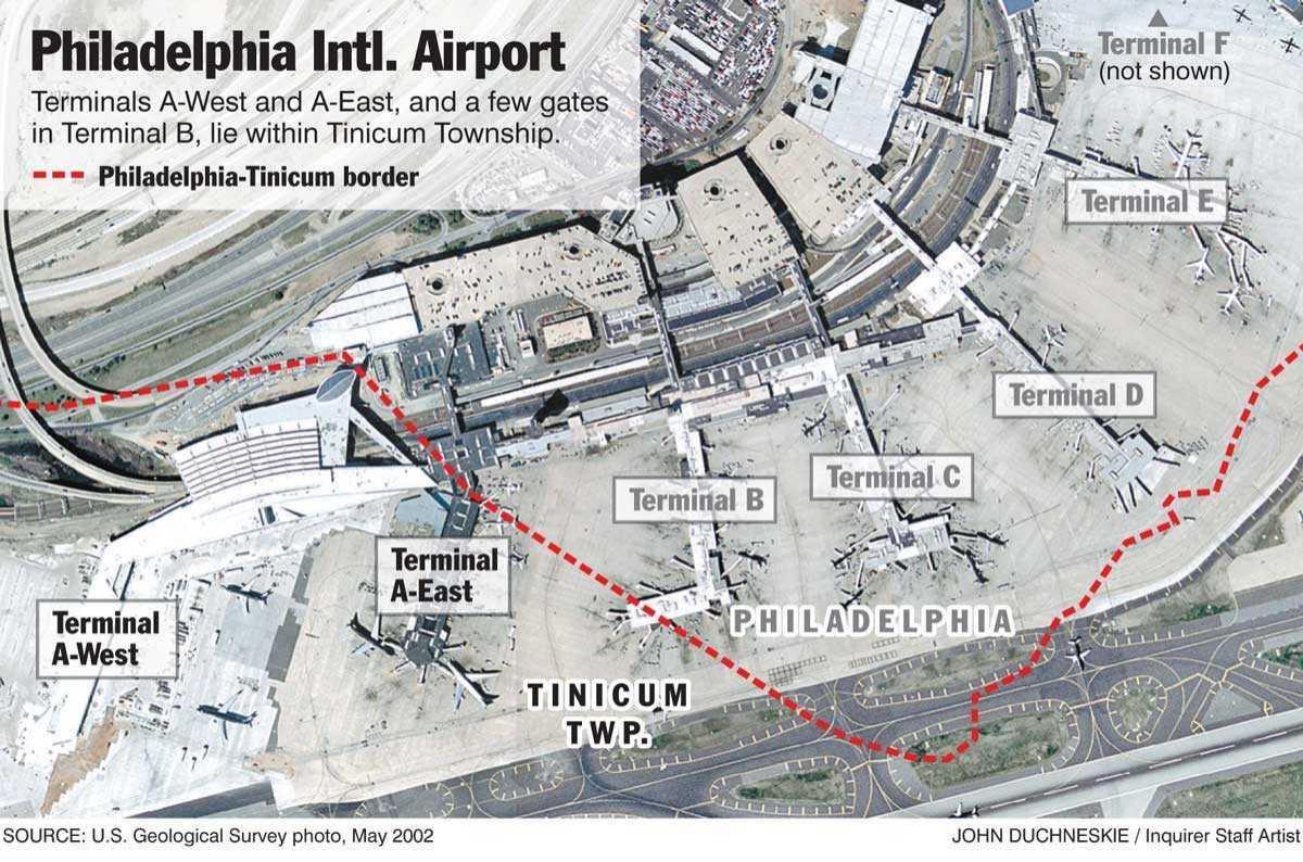 Philadelphia Airport Terminal Map Philadelphia Terminal Map - Phl terminal map