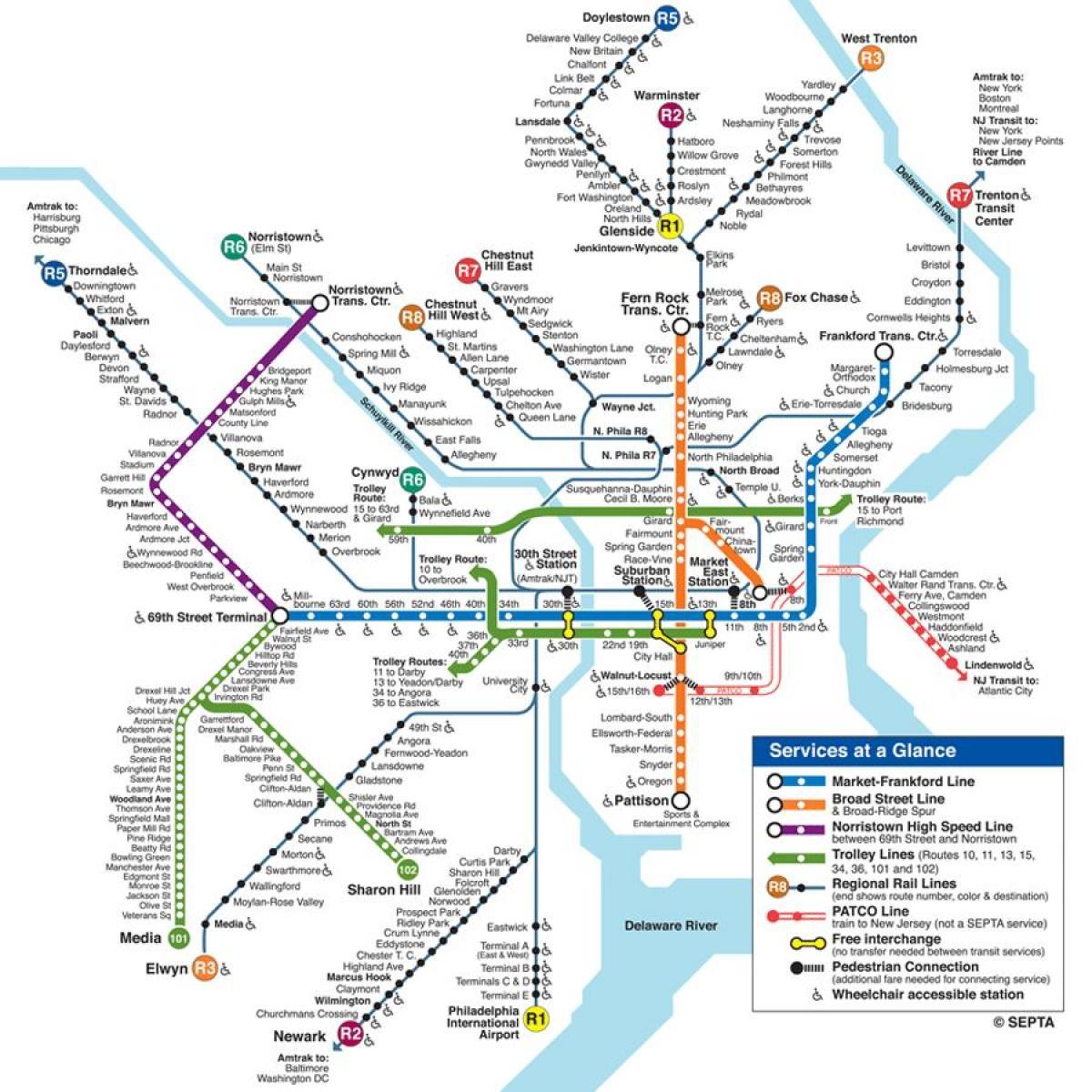 Philadelphia Subway Map