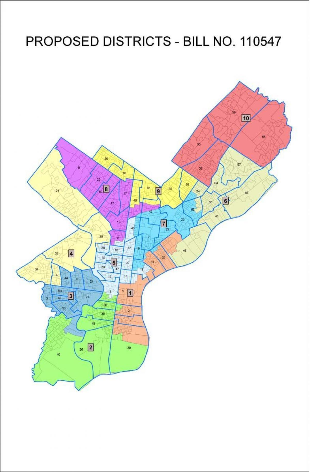 Ward Map Philadelphia Philadelphia ward map   Ward map Philadelphia (Pennsylvania   USA)
